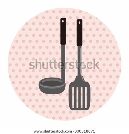 kitchenware spatula theme elements  - stock photo