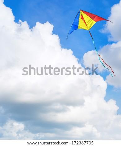Kite flying in the sky - stock photo