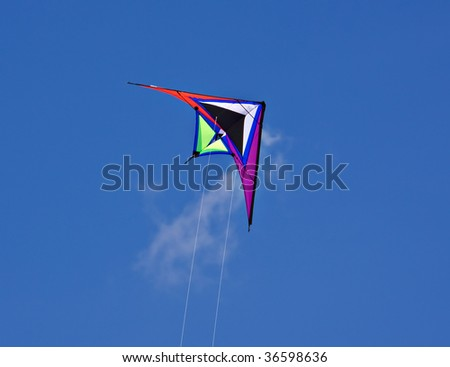 Kite flying over blue sky