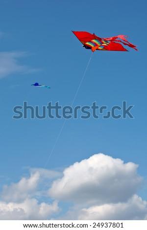 kite in the blue sky - stock photo