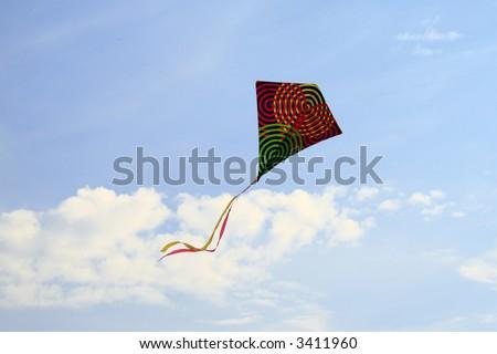 kite in the sky - stock photo
