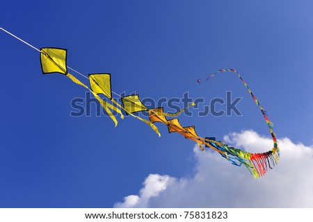 Kite on the sky is clear.