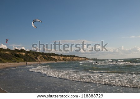 Kite Surfer, Wustrow, Deutschland