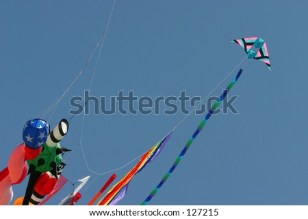 Kite with fun streamers