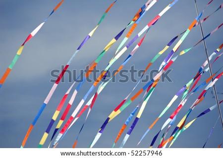 Kites flags. - stock photo