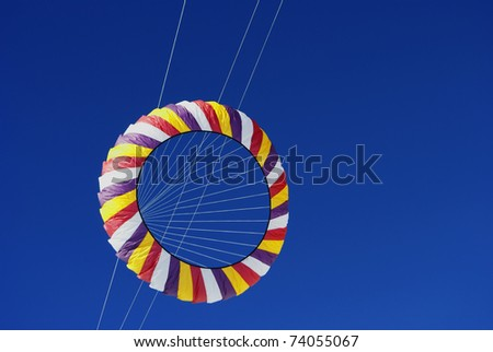 kites with blue sky background - stock photo