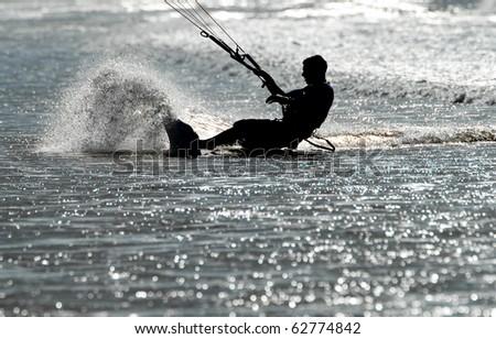 kitesurf - stock photo