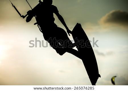Kitesurfing - stock photo