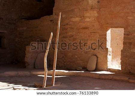 Kiva, a religious room, in Mesa Verde national park - stock photo