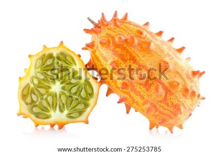 kiwano melon - stock photo