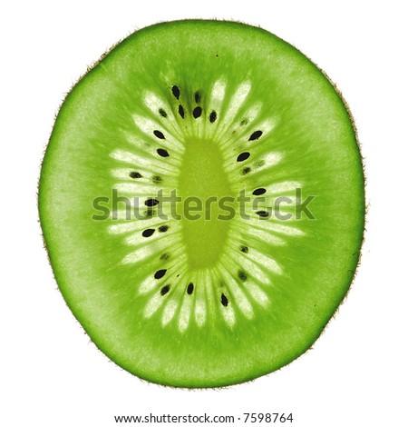 kiwi abstract - stock photo