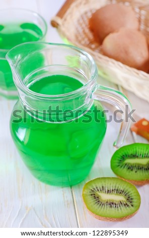 Kiwi and drink from kiwi