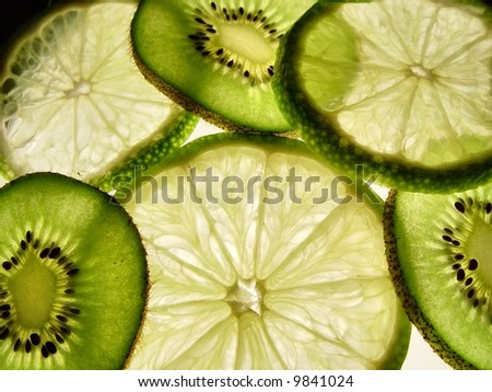 Kiwi and Lime - stock photo