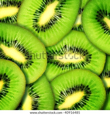 Kiwi Background - stock photo