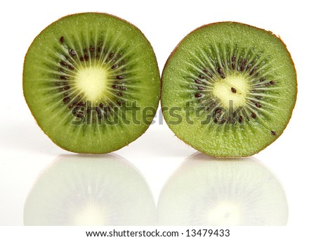 Kiwi cut in half - stock photo