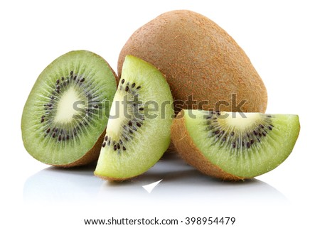 Kiwi fruit fruits isolated on a white background