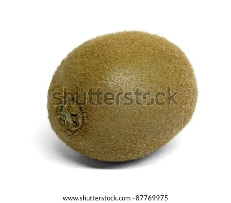 kiwi fruit in white back with shadow - stock photo