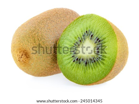 kiwi fruit isolated - stock photo