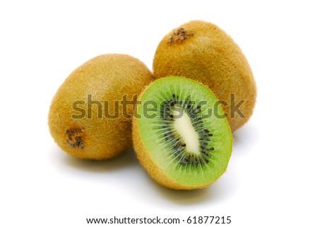 kiwi fruit isolated - stock photo