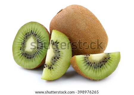 Kiwi fruit organic fruits isolated on a white background