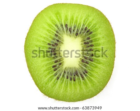 Kiwi fruit slice - stock photo