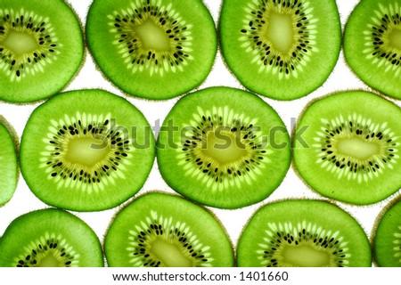 Kiwi Fruit Slices - stock photo
