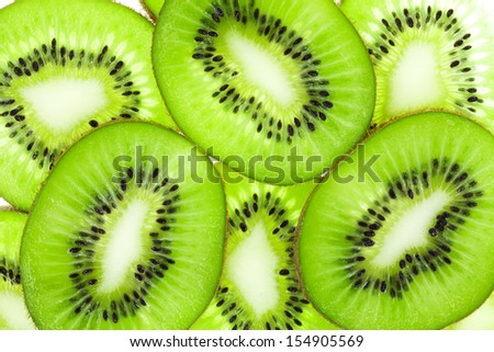 Kiwi fruit slices - stock photo