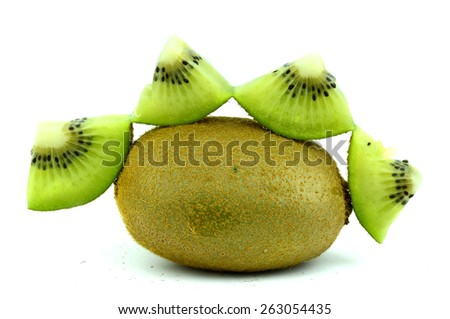 Kiwi (isolated object on white background)