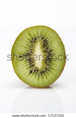Kiwi isolated on white background. - stock photo