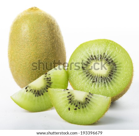 Kiwi Juice fruit isolated with white background
