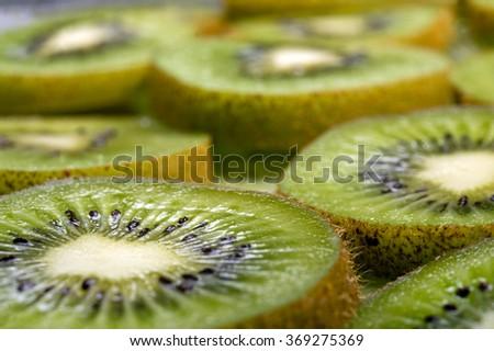 kiwi slices background macro/ kiwi slices background macro/ kiwi slices background macro - stock photo