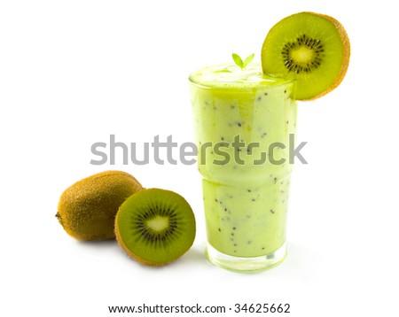 Kiwi smoothie - stock photo