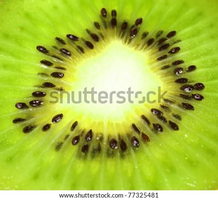 Kiwi - true close up - stock photo