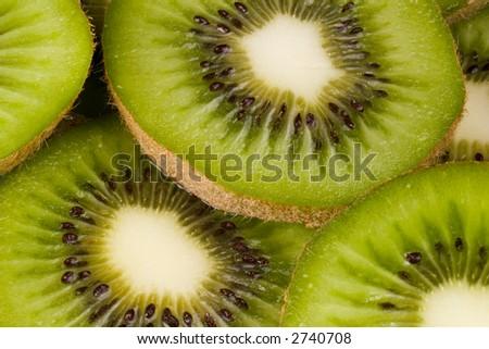 Kiwifruit slices - stock photo