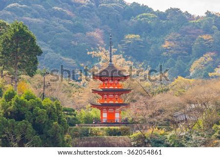Kiyomizu-dera, an independent Buddhist temple in eastern Kyoto, Kyoto, Japan - stock photo