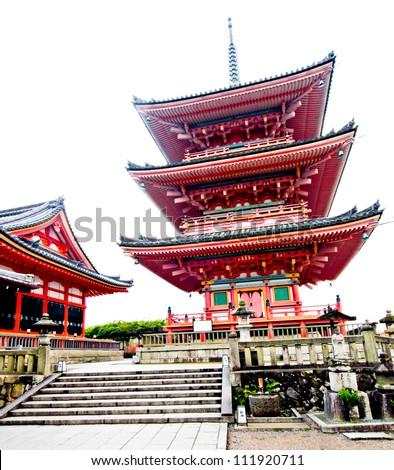 Kiyomizu Temple in Kyoto Japan - stock photo