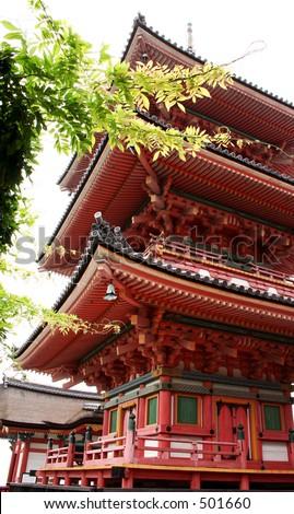 Kiyomizu temple, Kyoto - stock photo