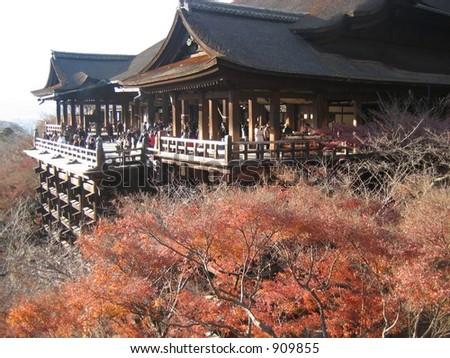 Kiyomizu Temple, Kyoto Japan - stock photo