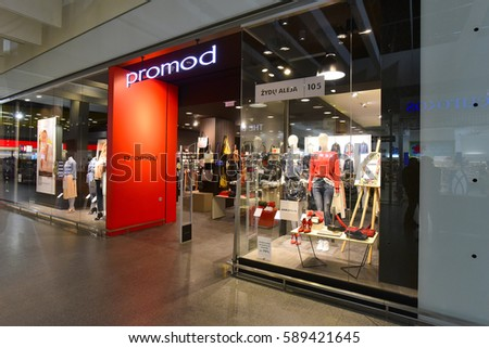 KLAIPEDA,LITHUANIA-FEB 20:PROMOD  fashion store on February 20,2017 in Klaipeda,Lithuania.