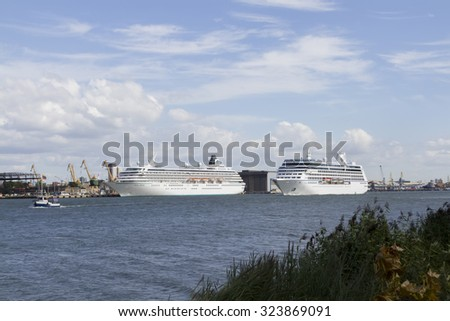 KLAIPEDA,LITHUANIA- SEPTEMBER 13, 2015. Views of the harbor on September 13,2015 in Klaipeda, Lithuania