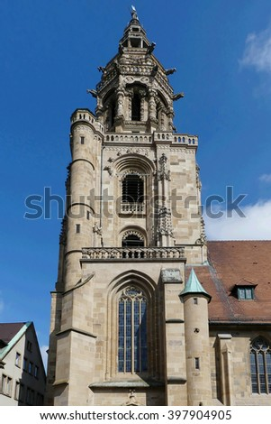 Klilianskirche church in Heilbronn,Germany - stock photo