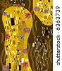 klimt inspired abstract art (raster) - stock photo