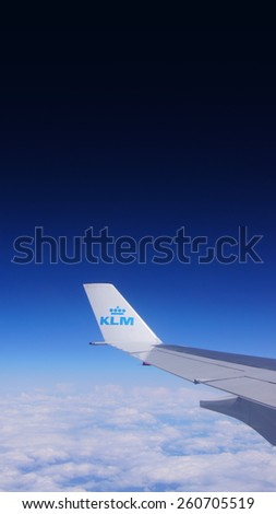KLM planes May 4, 2015 in Amsterdam, The Netherlands.