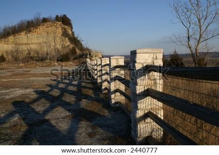 Klondike Park Overlook - Saint Chalres Missouri overlooking the Missouri River - stock photo