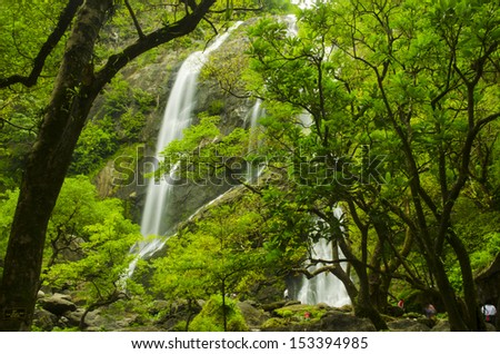 Klong lan waterfall, Kamphangpetch Thailand - stock photo