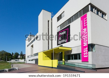 KLOSTERNEUBURG, AUSTRIA - MAY 08, 2014: Photo of the Essl Museum, a famous art gallery museum in Lower Austria. - stock photo