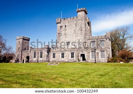 Knappogue Castle in Co. Clare,  Ireland. - stock photo