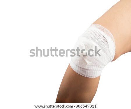 Knee injury, muscle strain, twisted knee  - stock photo