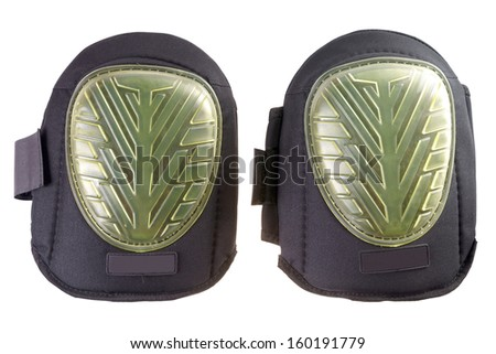 Knee pads isolated over a white background / Knee pads - stock photo