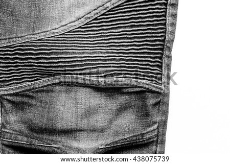 Knee stretch Jeans - stock photo